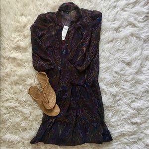 New With Tags Sisley Paisley print dress