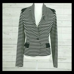 LAmade Tops - LAmade cropped fitted jacket striped like new