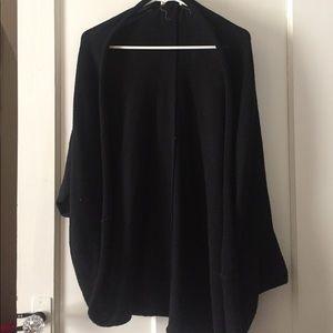 Black knitwear poncho