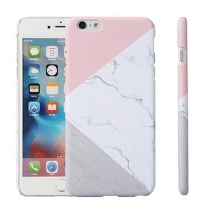 Accessories - Matte Marble & Pink Phone Case iPhone