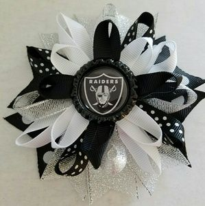 Other - 3 for $10 sale! Oakland Raiders Hairbow