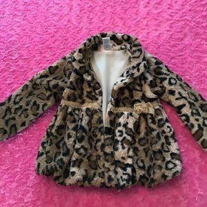 Little Lass Other - Girls 4T Soft Leopard Jacket