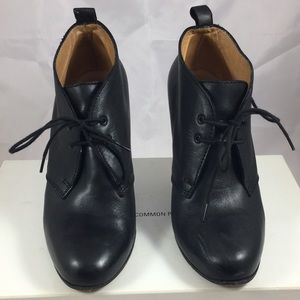 Common Projects Shoes - Woman by Common Projects Black Lace Up Booties