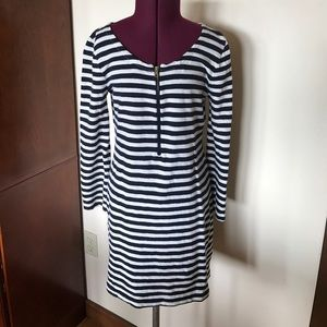 J. Crew Blue White Striped Sailor Zipper Dress XXS