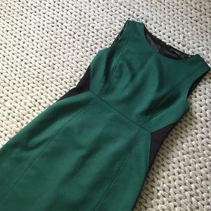 Tahari Dresses & Skirts - { Tahari } Green and Black Knit Sheath Dress