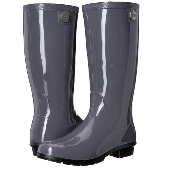 4792cdf6a2c UGG Authentic Shaye Nightfall Grey Rain ☔️ Boot 12 NWT