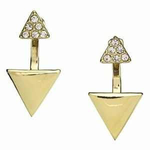 Baublebar Jewelry - Baublebar Gold Pave Triangle Ear Jacket