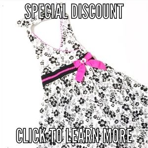 Youngland Other - 👗Black & White Floral Halter Dress 6X