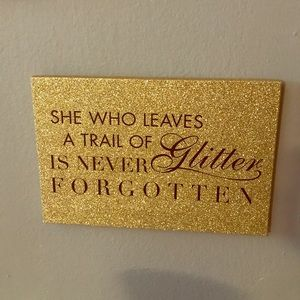 Other - Gold glitter wall art