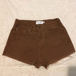 Kendall & Kylie Pants - Kendall & Kylie Sz 25 Brown Corduroy Frayed Shorts