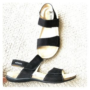 Mephisto Shoes - Mephisto- Black Suede Sandals
