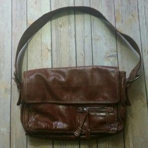 Francesco Biasia Handbags - FRANCESCO BIASIA brown leather shoulder bag