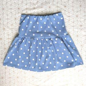 Snap Dresses & Skirts - NWT blue & white polka dot high waisted skirt