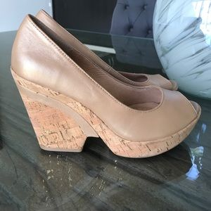 Sofft Shoes - Sofft Cork Wedges/ Pearly Tan Color Size 9.5