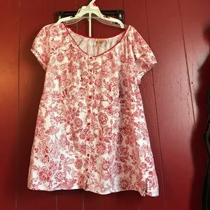 Faded Glory Tops - Red floral  top *final price*