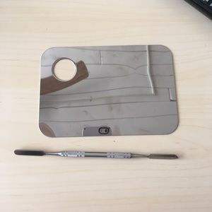 Other - Stainless Steel Makeup Palette and Spatula