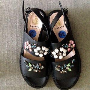 Lanvin Shoes - LANVIN JEWELED PLATFORM SANDALS