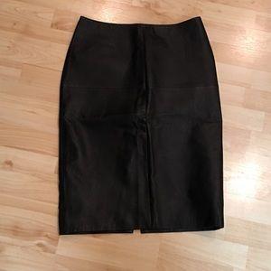 Newport News Dresses & Skirts - Women's Newport News Leather Skirt Size 8