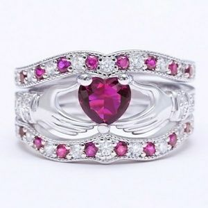 Jewelry - PINK SAPPHIRE HEART RING