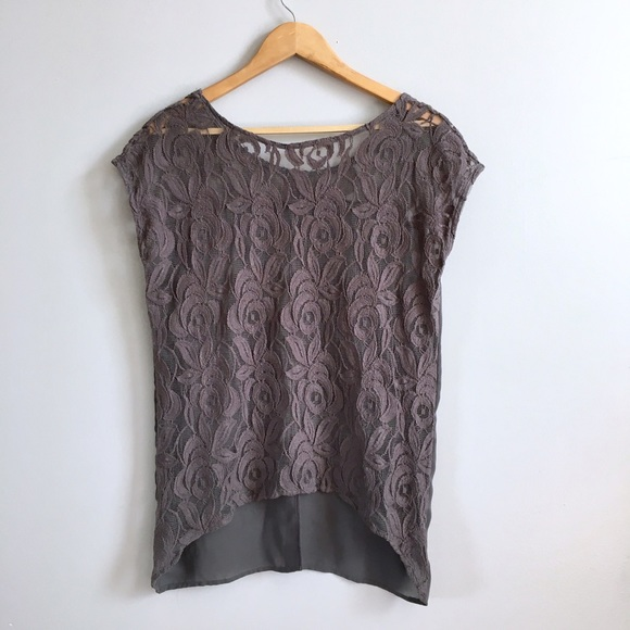 Anthropologie Tops - 🔆 SALE Gray Lace Top