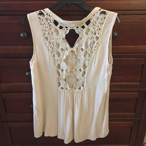 Altar'd State Tops - Altar'd State Lacy Back Top