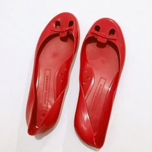 Marc Jacobs Red Jelly Flats | Size 38