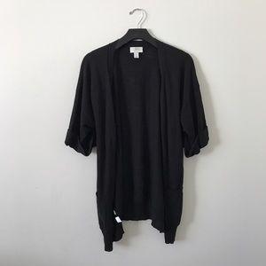 LOFT oversized short sleeve cardigan