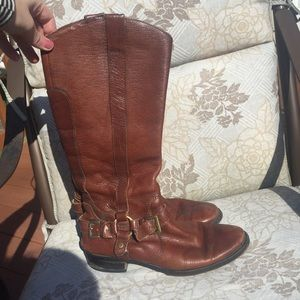 Miz Mooz Shoes - Brown Leather Riding Boots
