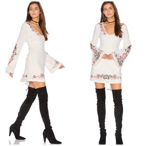 NWT Free People Embroidered Bell Sleeve Dress