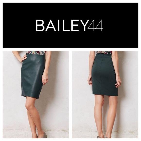3e3e9d1d17 Bailey 44 Skirts | Green Stretch Faux Leather Pencil Skirt | Poshmark
