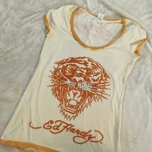 Ed Hardy Tops - 4/$25 Ed Hardy tiger tee - size small