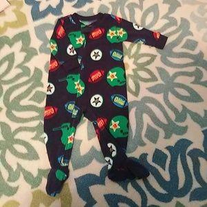 Osh Kosh Other - Osh Kosh B'gosh Football Zip Footie Pajamas