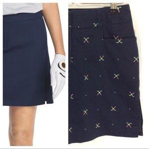 Izod Pants - IZOD Navy Embroidered Golf Skort