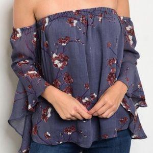 Tops - Arrived! Off shoulder floral top