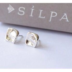 Silpada Hammered Post Sterling Silver Earrings