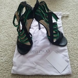 Jimmy Choo Shoes - Jimmy Choo Snake Skin Heels