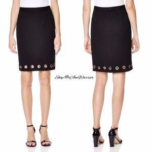 Catherine Malandrino Dresses & Skirts - 🆕NWT Catherine Maladrino black grommet skirt