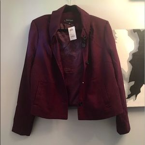 Dialogue XL wine color wool/poly jacket - NWT