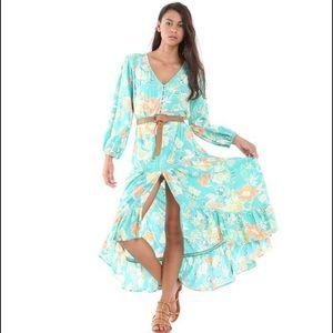Tulle & batiste Camilla maxi dress floral spell