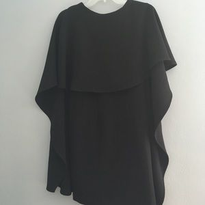Backless, mini cape dress