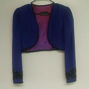 Alex Evenings Jackets & Blazers - Vintage 80s Embellished Shrug.