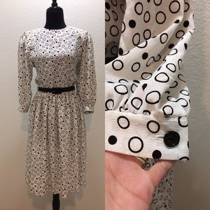Leslie Fay Dresses & Skirts - EUC Leslie Fay Vintage Polka Dots Dress Size 8P