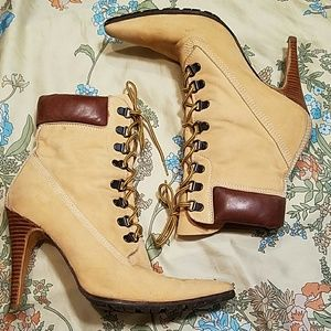 Manolo Blahnik Shoes - Manolo Blahnik Timbs Heeled Boots