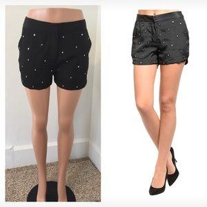 NWT medium black rhinestone shorts