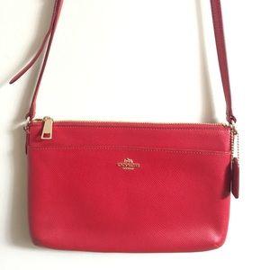 Red coach crossbody purse