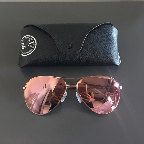3a302c37ce1 Ted Baker mirrored pink aviators w  Ray Ban case. M 595a94836d64bc80c30134e5