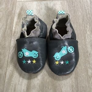 Robeez Other - Robeez 0-6 months baby boy Motorcycle Cool shoes