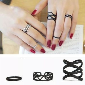Jewelry - Fashion Punk Stack Knuckle Ring Midi Finger women