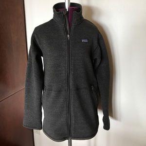 Patagonia Brown Zip Up Jacket Sweatshirt Boy XL 14
