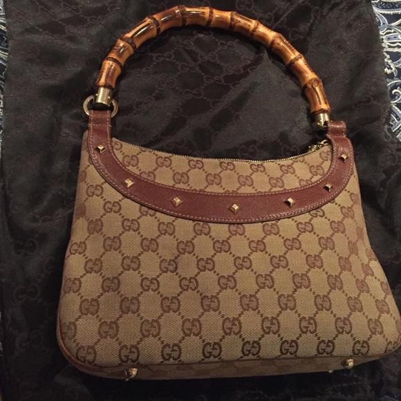 9141cc5fc374 Gucci Bags | Vintage Bag With Bamboo Handle | Poshmark